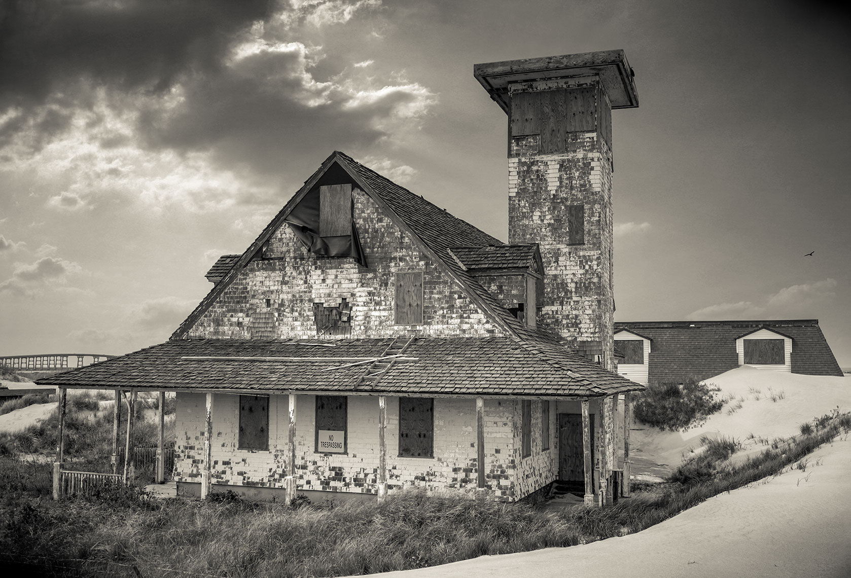 Photography, Photo Illustration and Retouching on Abandoned-Coast-Guard-Station2_OBX-NC