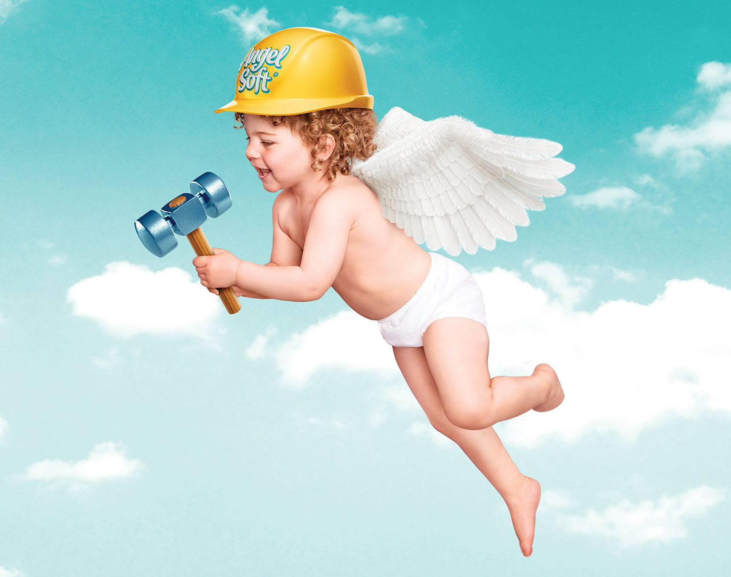 Photography, Photo Illustration, Digital Imaging and Retouching for DDB-Angel-Soft-Hammer