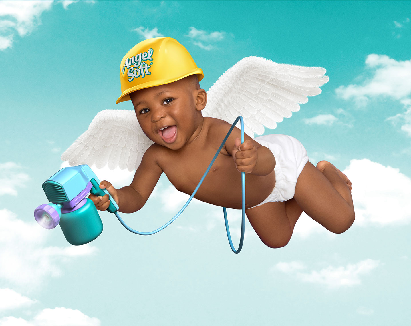 Photography, Photo Illustration, Digital Imaging and Retouching for DDB-Angel-SoftSprayer