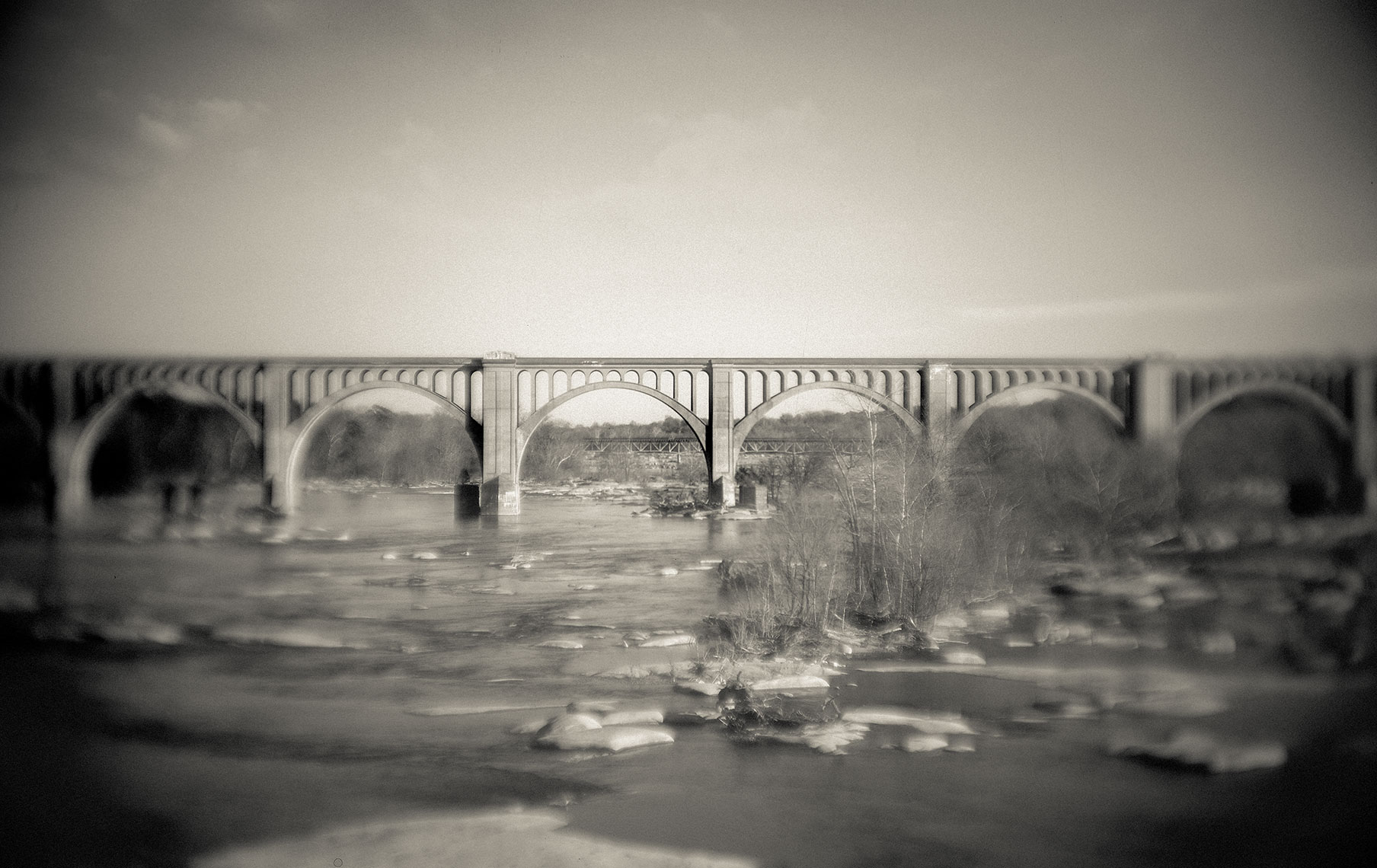 Photography, Photo Illustration and Retouching on James-River-Train-Bridge_Richmond-VA