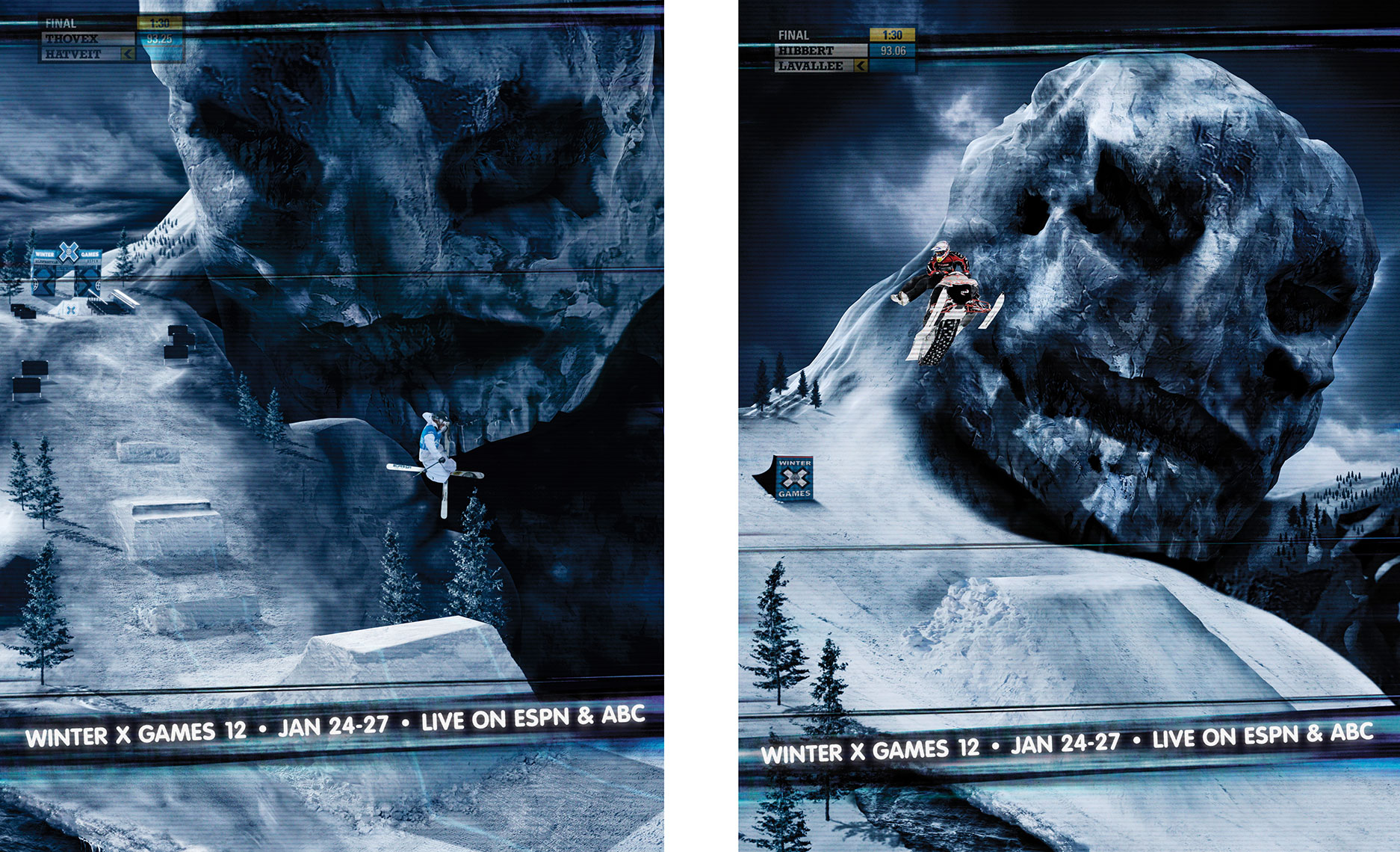 Photography, Photo Illustration, Digital Imaging and Retouching for Martin-Agency-XGames_Together