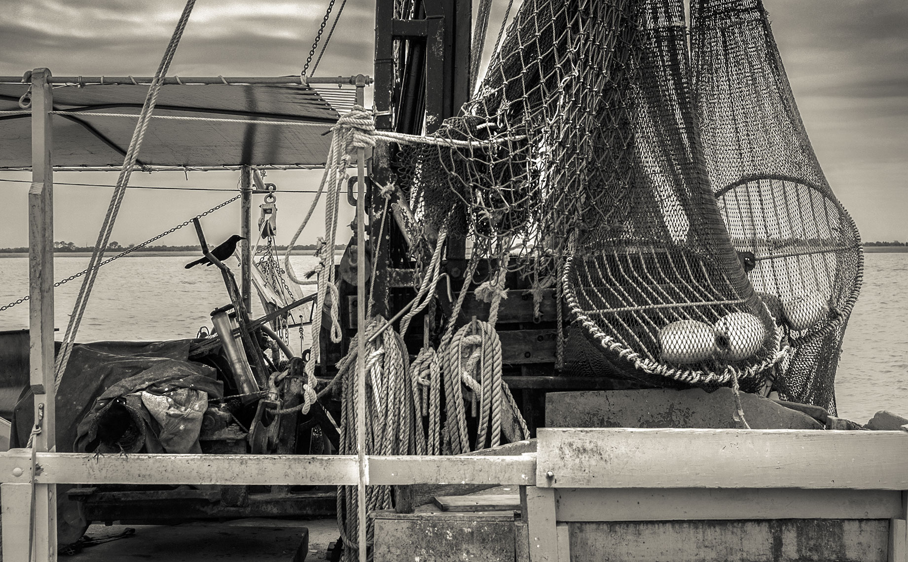 Photography, Photo Illustration and Retouching on Old-Fishing-Boat_Jekyll-Isle-SC-