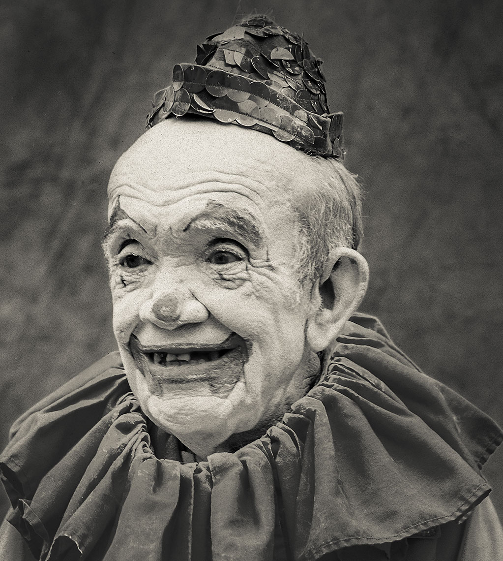 Photography, Photo Illustration and Retouching on Petey-the-Clown_.Sarasota-FLA