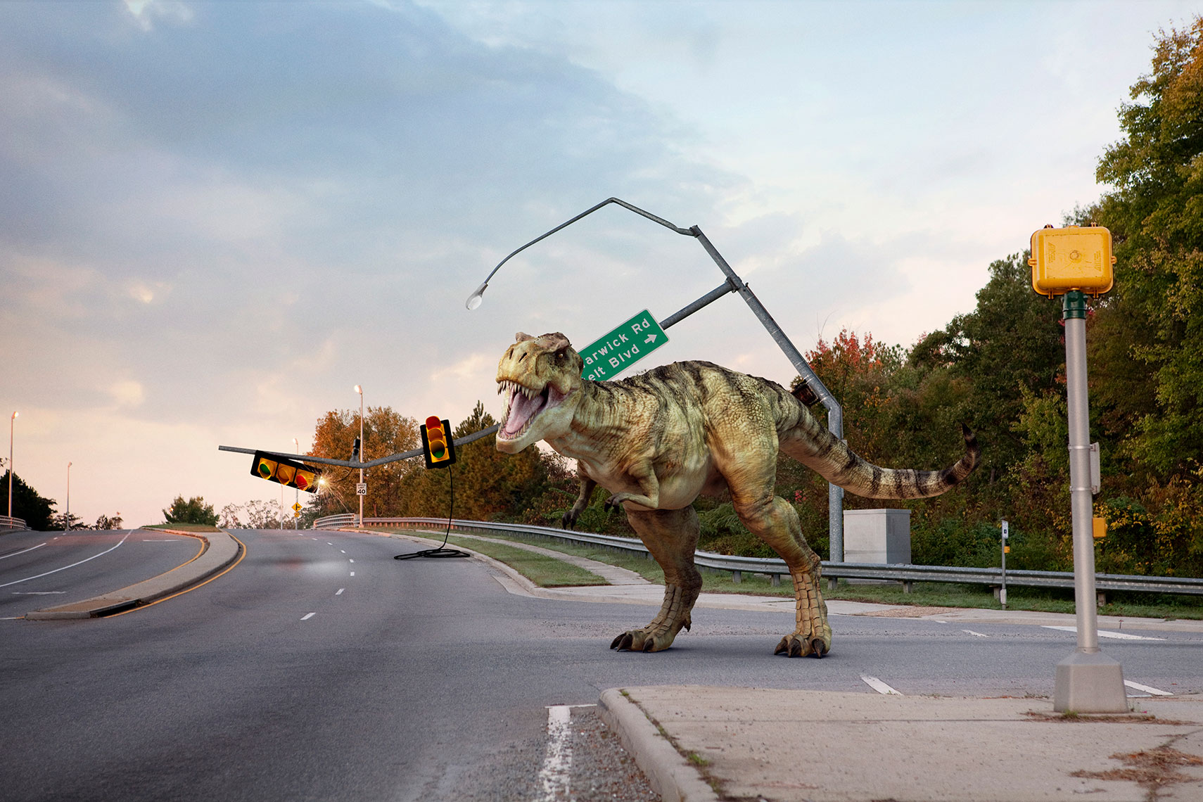 Commercial Photography, Photo Illustration and Retouching on Siddall.VDOT-Dinosaur