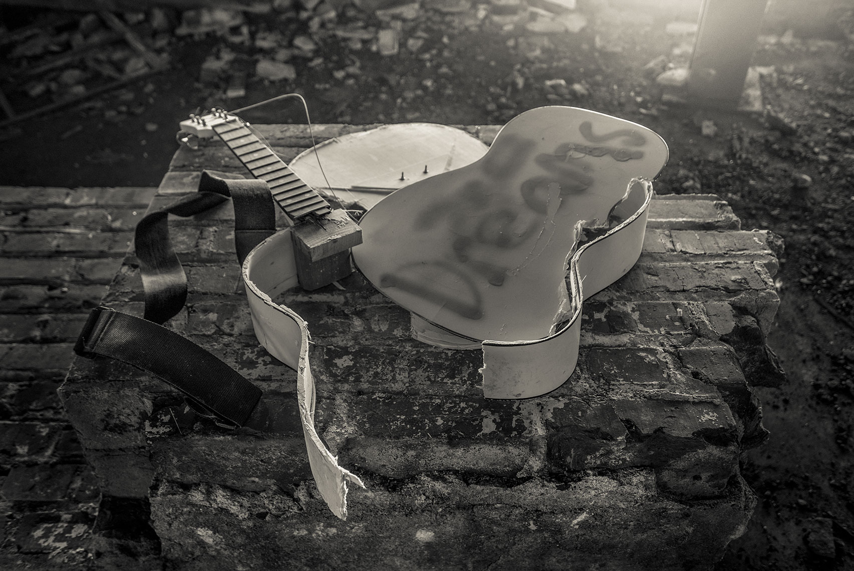 Photography, Photo Illustration and Retouching on Smashed-Guitar-Dreams-Richmond-VA