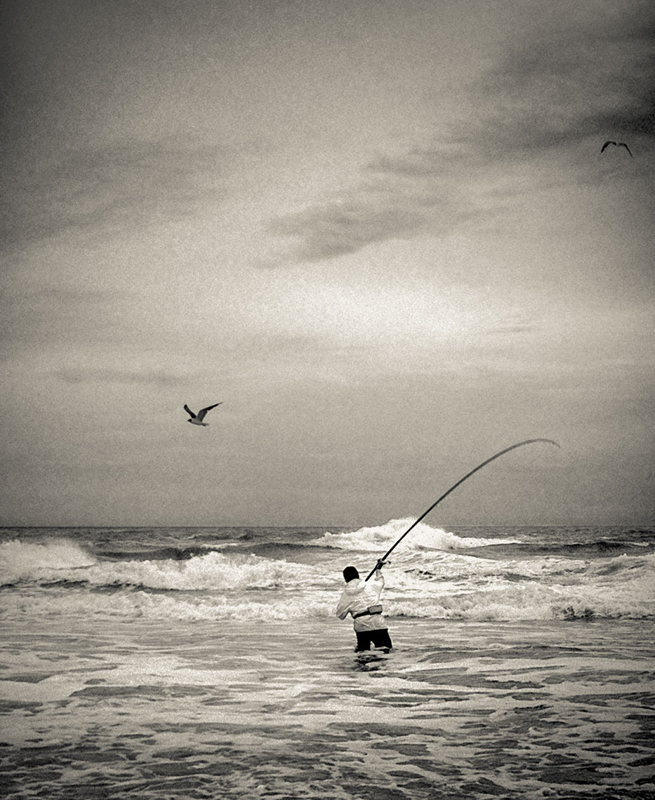 Photography, Photo Illustration and Retouching on Surf-Fisherman_OBX-NC