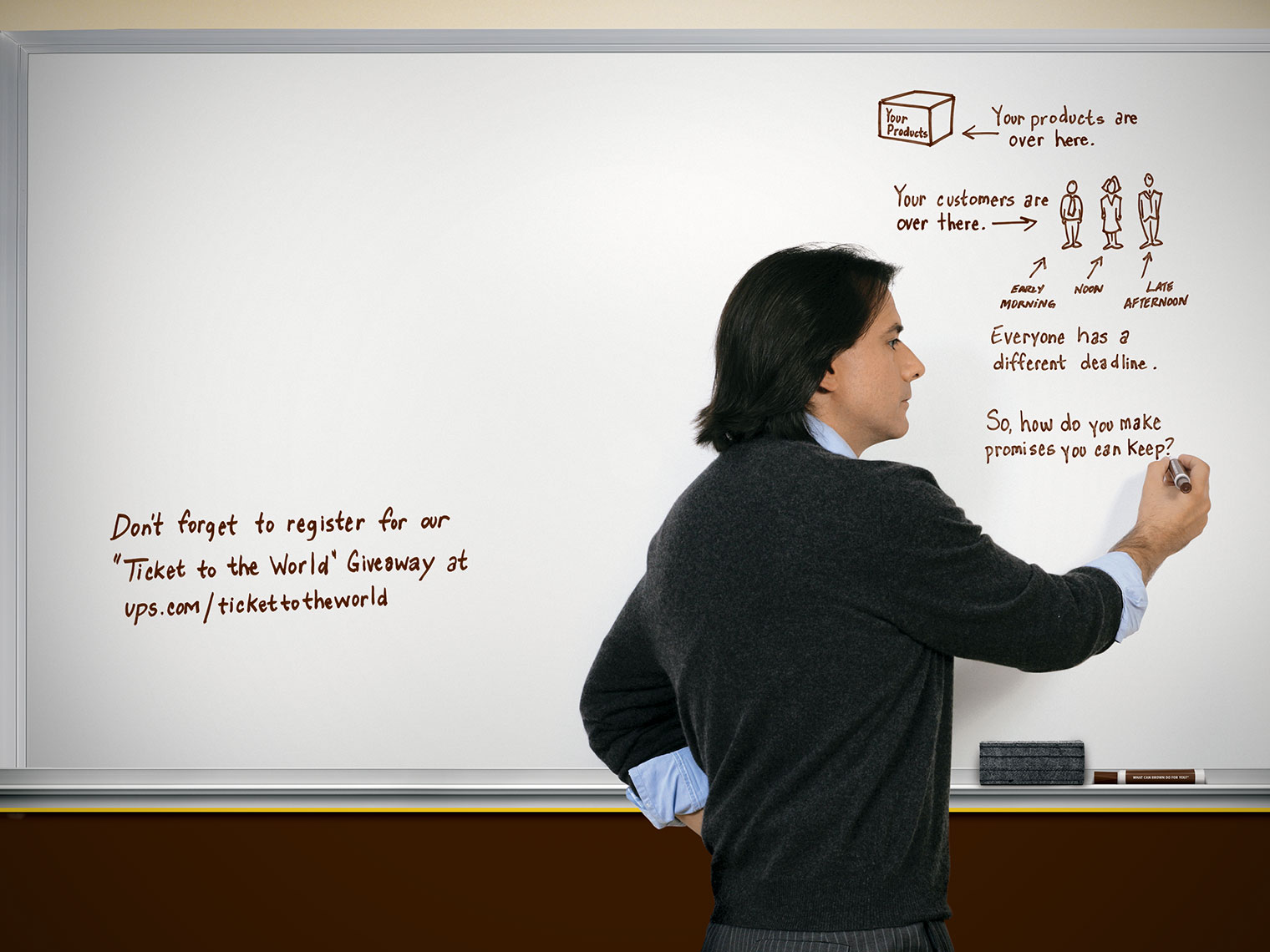 Commercial Photography, Photo Illustration and Retouching on The-Martin-Agency-UPS-White-Board